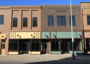 facade on main street in Ottumwa - after