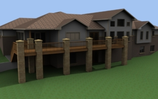 Baker Residence Back-Side Deck