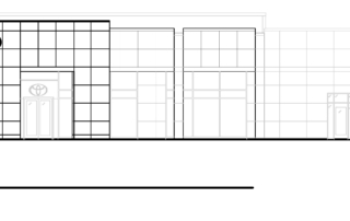 Clemons Dealership Exterior Elevation