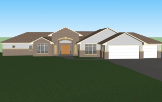 Baker Front of Home 3D Rendering