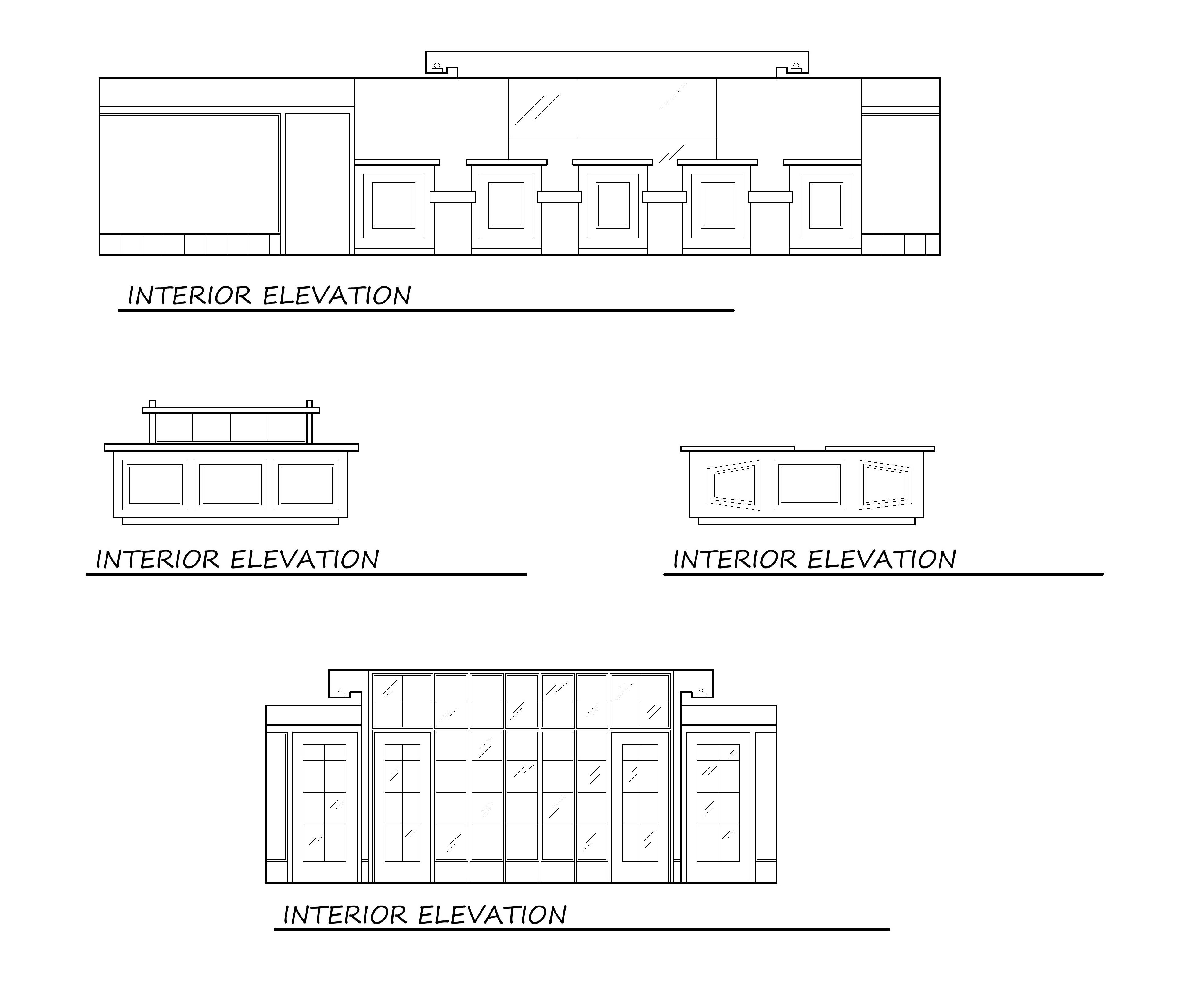 Horizon Bank Interior Elevations