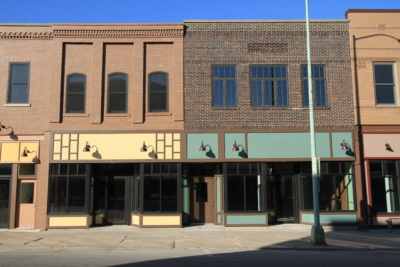 facade on main street in Ottumwa - after